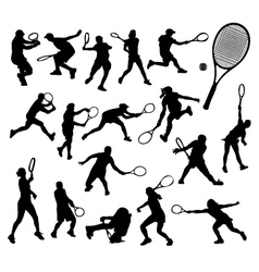 tennis player 2 vector image