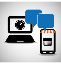 Wearable technology date calendar time planning vector