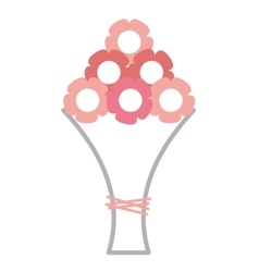 Bouquet of flowers isolated icon vector