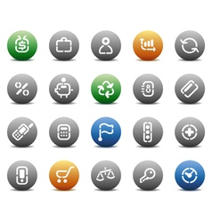 Stencil round buttons for business vector