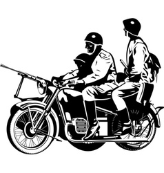 Military motorcycle vector