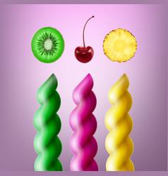 Set of spiral lollipops vector