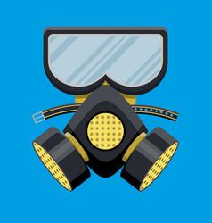 Modern gas mask respirator fire equipment vector