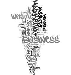 Your automated passport to wealth text word cloud vector
