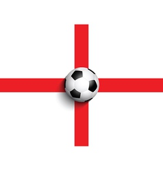 football on england flag background 0306 vector image