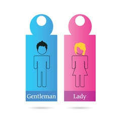 Gentleman and lady sign for toilet vector