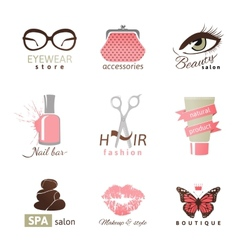 Beauty and fashion logo templates vector