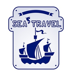 Sea travel vector