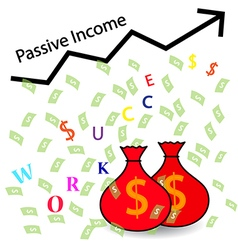 Passive income and financial freedom concept vector
