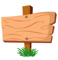 Wood sign vector