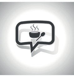 Curved hot soup message icon vector