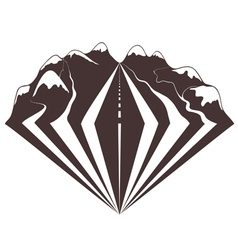 a mountains road vector image
