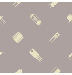 Seamless background with electronic components vector