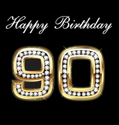90th happy birthday vector image vector image