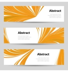 Set of orange curved lines backgrounds banners and vector