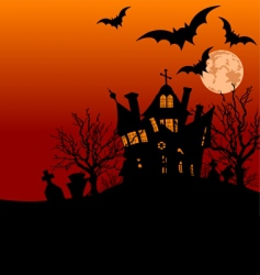 Halloween house flyer vector image