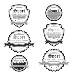 Set of sport emblems logo badges and labels vector