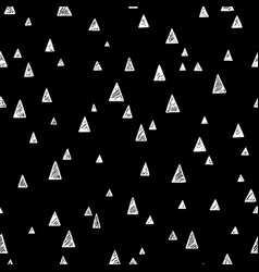 a hand drawn seamless pattern with triangles vector image vector image