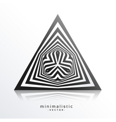 Abstract triangle shape made with black lines vector