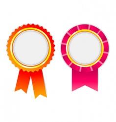 award ribbon vector image vector image
