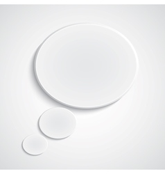 Background with paper thinkspeech bubble vector image