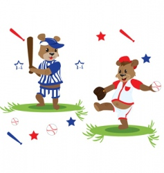 baseball teddy vector image vector image
