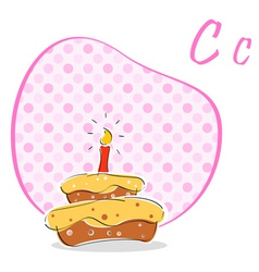 c for cake vector image
