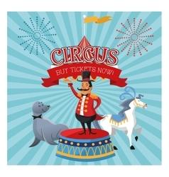 Cartoons of circus festival vector