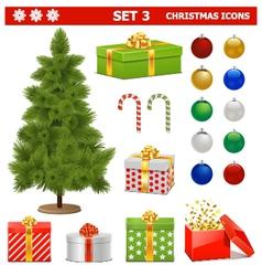 Christmas Icons Set 3 vector image