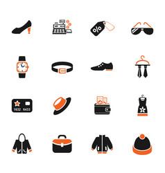 clothes shop icon set vector image