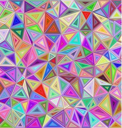 Colorful triangle mosaic background design vector image