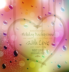 festive background with the drawn heart vector image vector image