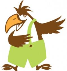 funny bird symbol vector illustration vector image vector image