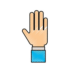 human hand business showing finger icon vector image