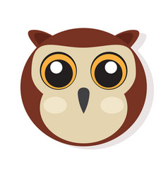 Isolated owl face vector