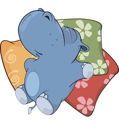 Little hippopotamus vector image