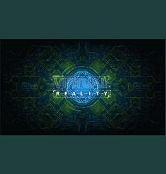 modern background with futuristic user interface vector image