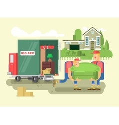 Moving design flat vector image vector image