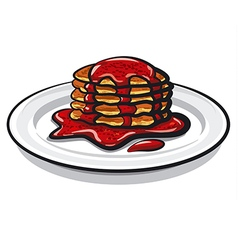pancakes with jam vector image