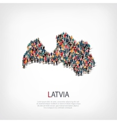 people map country Latvia vector image vector image