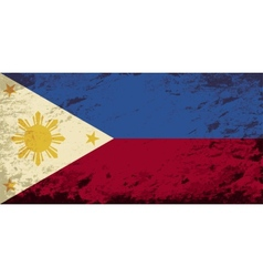 Philippines flag grunge background vector