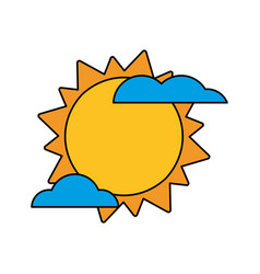 Sun cloud weather image vector