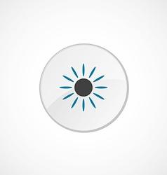 Sun icon 2 colored vector