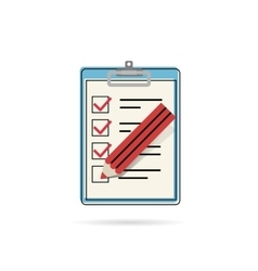 Task list icon vector image vector image