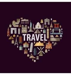 travel logo design template journey or vector image