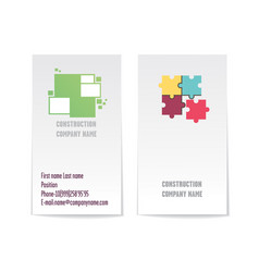Two sided corporate business card template vector