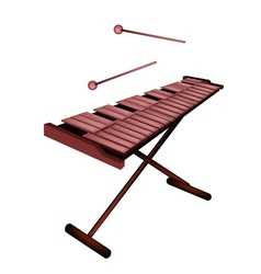 Xylophone or marimba isolated on white background vector