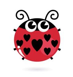 Ladybug love vector
