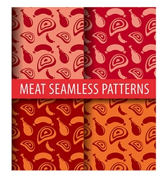 sausages and meat patterns vector image