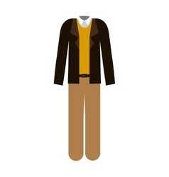 Clothing male with t-shirt and jacket and pants vector
